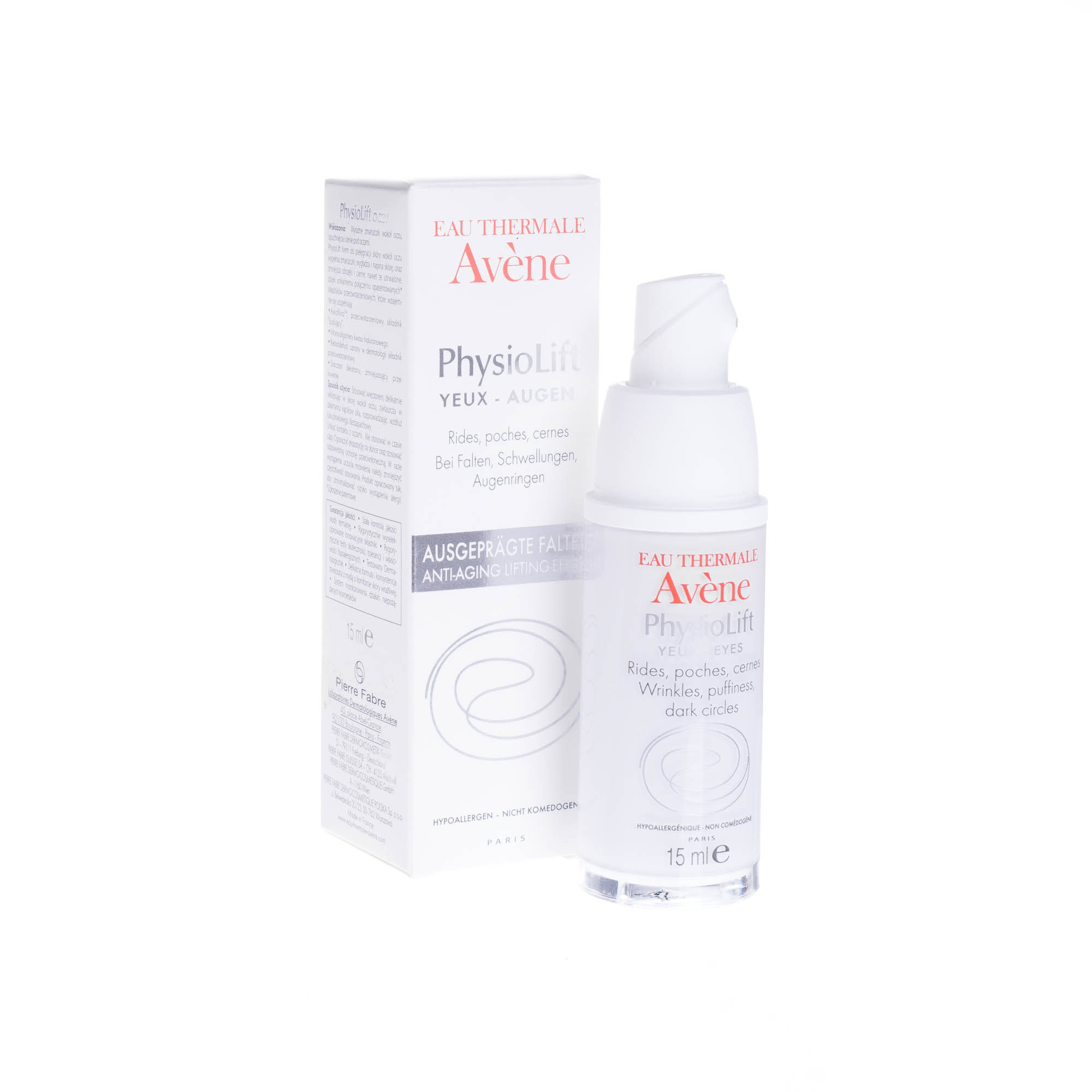 Avene Physiolift, krem do pielęgnacji skóry wokół oczu