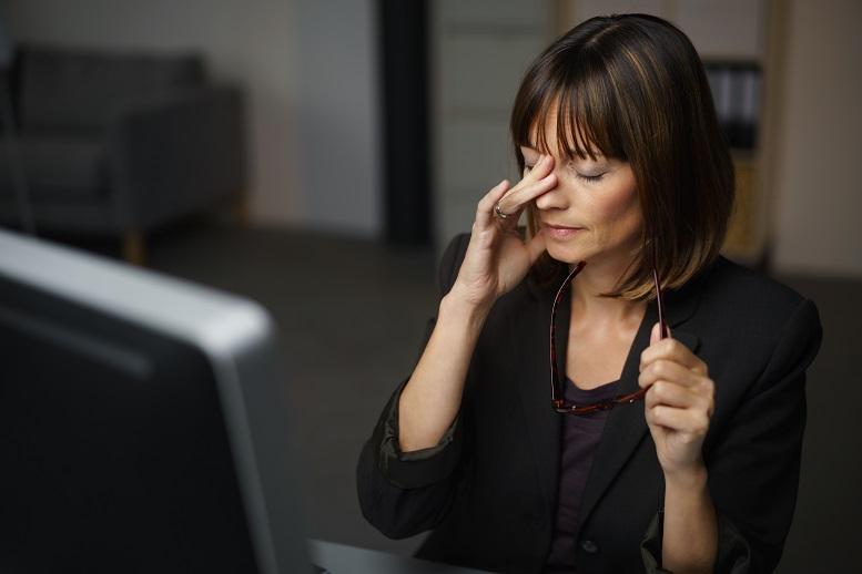 zamglone widzenie w pracy